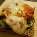 Mezcla de queso-tomate. Ñamiiii