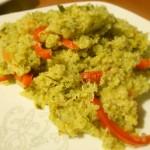 Quinoa a la Albahaca, Tomate y Morrón