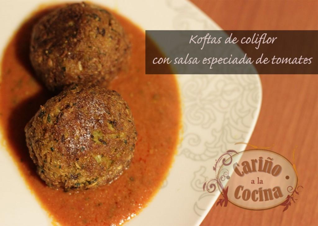 Koftas con salsa de tomates especiada
